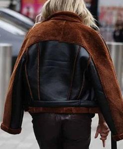 Ashley Roberts Christmas Aviator Jacket