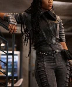 Anissa Pierce Black Lightning Hooded Jacket