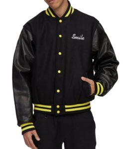 Chinatown Market Smiley Face Varsity Jacket