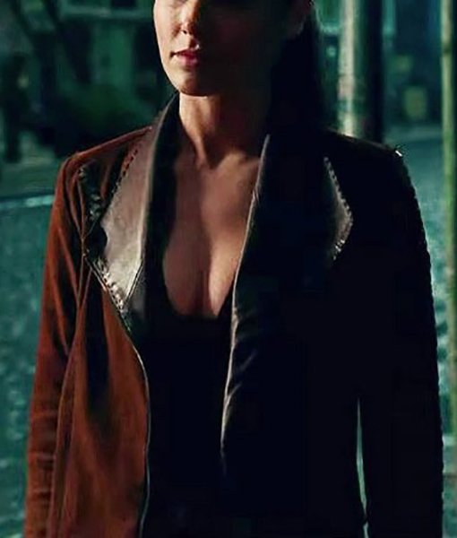 Diana Wonder Woman Brown Jacket