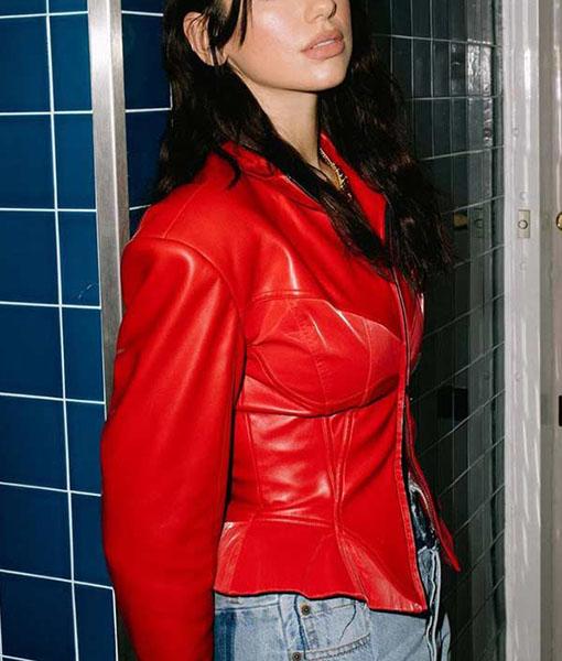 Dua Lipa Fever Red Jacket