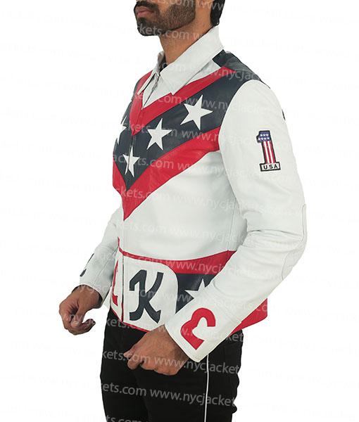 Evel Knievel Daredevil Biker Leather Jacket