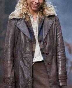 Suzie Pickles I Hate Suzie Leather Coat