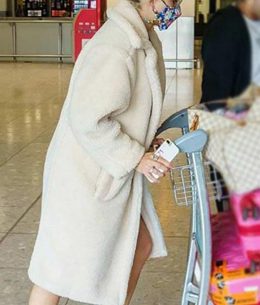 Pixie Lott White Coat