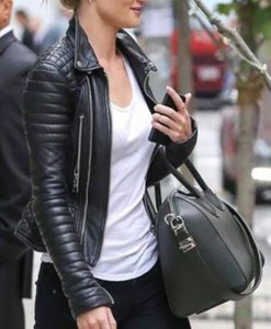 Rosie Huntington Whiteley Black Jacket