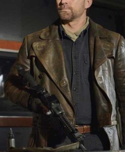 Joshua Nolan Brown Defiance Leather Coat