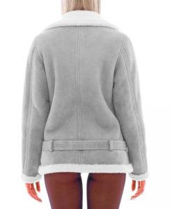 Elizabeth Santucci Grey Shearling Jacket