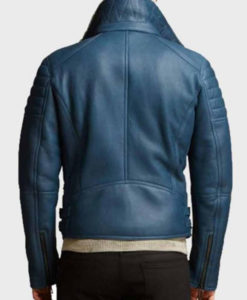 Franklin Blue Leather Jacket