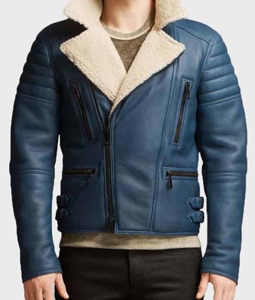 Franklin Blue Leather Jacket