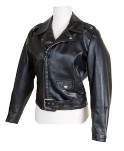 Sandy Grease Leather Jacket