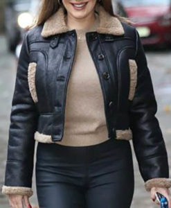 Kelly Brook Leather Jacket