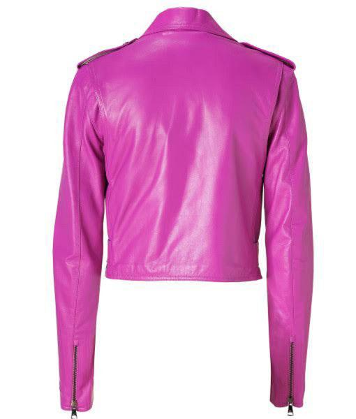 Jessica Alba Pink Biker Jacket