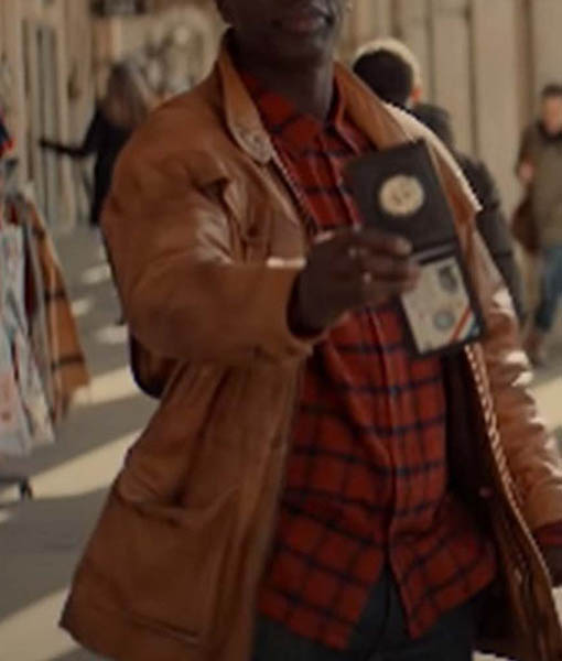 Assane Diop Lupin Leather Jacket