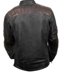 Men's Sport and Street Striped Leather Jacket