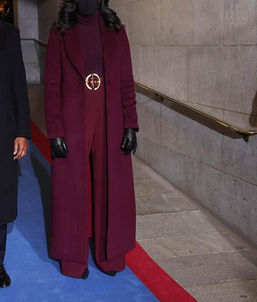 Michelle Obama Maroon Coat