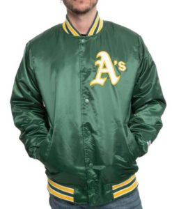 Oakland A's Starter Green Jacket