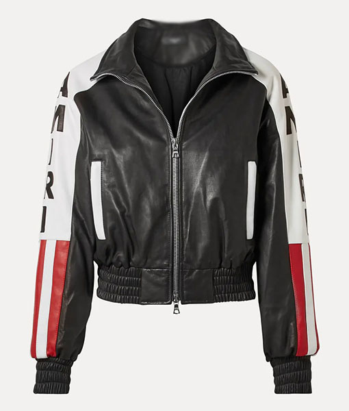 Power Book II Ghost Amiri Flag Leather Jacket