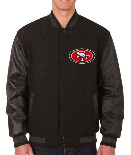 Reversible 49ers Varsity Jacket