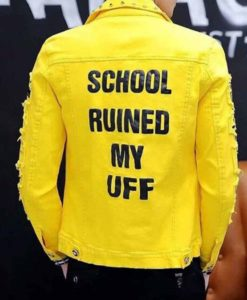 School Ruined My Uff Denim Jacket