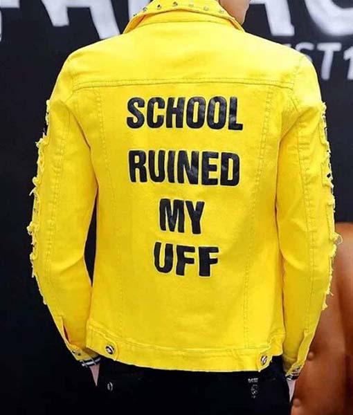 School Ruined My Uff Denim Jacket