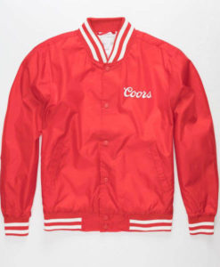 Taylor Coors Red Bomber Jacket