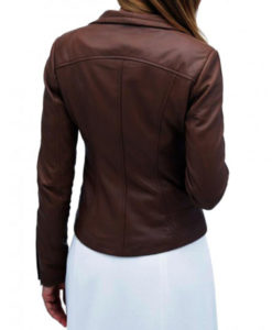 Lyla Michaels Arrow Leather Jacket