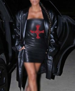 Kim Kardashian Malibu Leather Coat