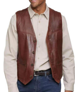 Carreras Leather Vest