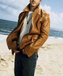Damon Salvatore The Vampire Diaries Brown Jacket