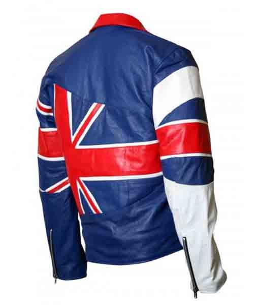 UK Union Flag Leather Jacket