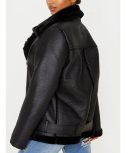Francesca Farago Black Aviator Jacket
