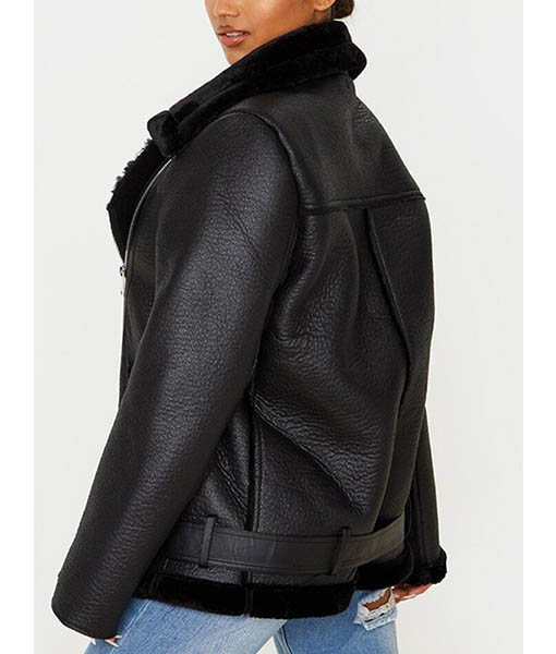 Francesca Farago Black Aviator Jacket
