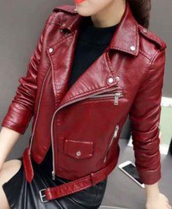 Jo Yi Seo Itaewon Class Burgundy Jacket