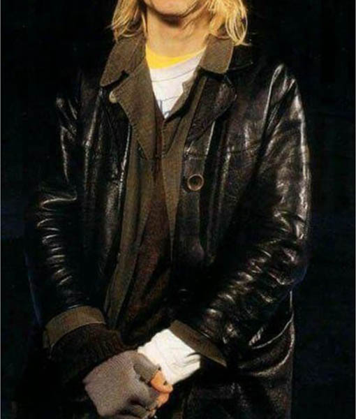 Kurt Cobain Leather Coat
