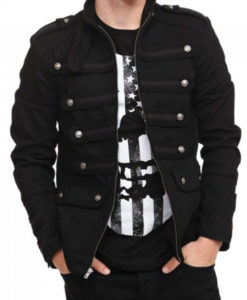 Men's Gothic Steampunk Black Jacket