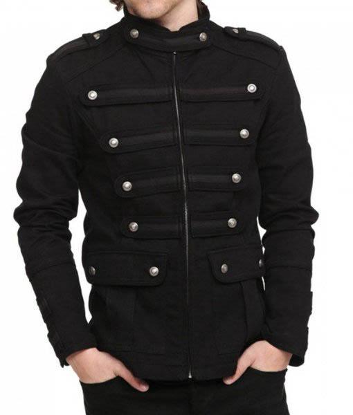 Men's Gothic Steampunk Black Jacket