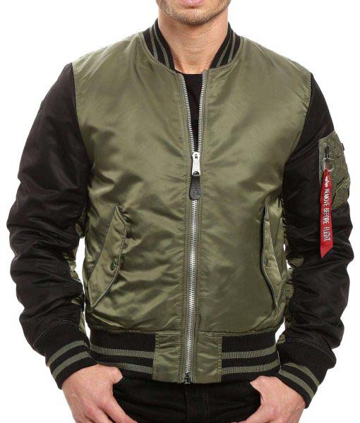Men's MA‐1 Varsity Flight Jacket