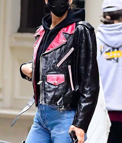 NYC Irina Shayk Leather Jacket