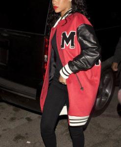 Rihanna Long Letterman Jacket