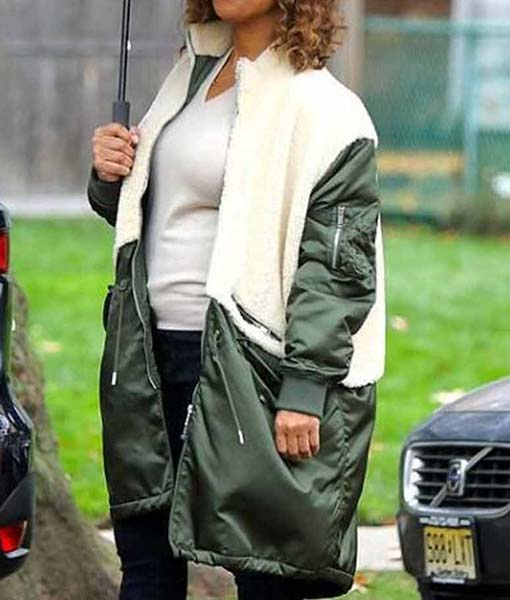 Robyn McCall The Equalizer 2021 Green Coat