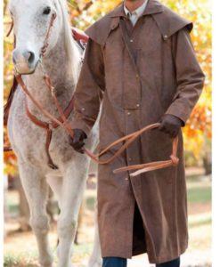Montgomery Cowboy Leather Coat