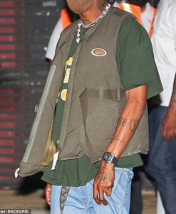 Travis Scott Olive Green Cotton Vest