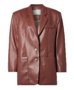Abbey Clancy Leather Blazer
