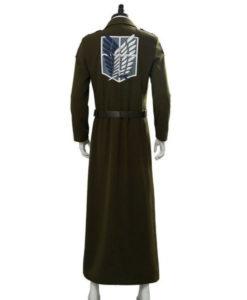 Eren Jaeger Attack On Titan S03 Green Coat
