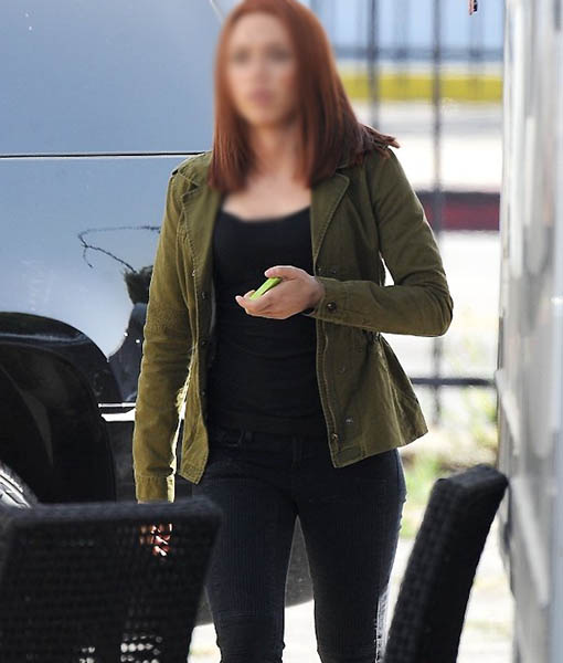 Black Widow Captain America The Winter Soldier Green Jacket