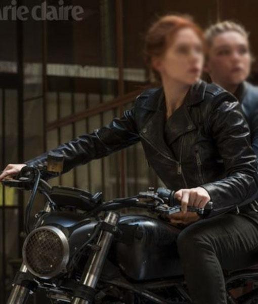 Natasha Romanoff Black Widow 2021 Motorcycle Jacket