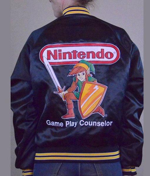 Nintendo Game Play Counselor Bomber Jacket