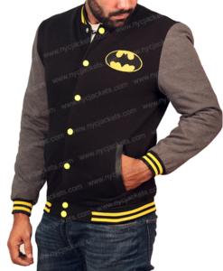 Batman Varsity Jacket With Classic Logo