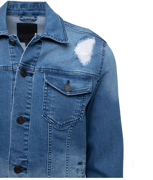 Charles Washed Slim Denim Jacket