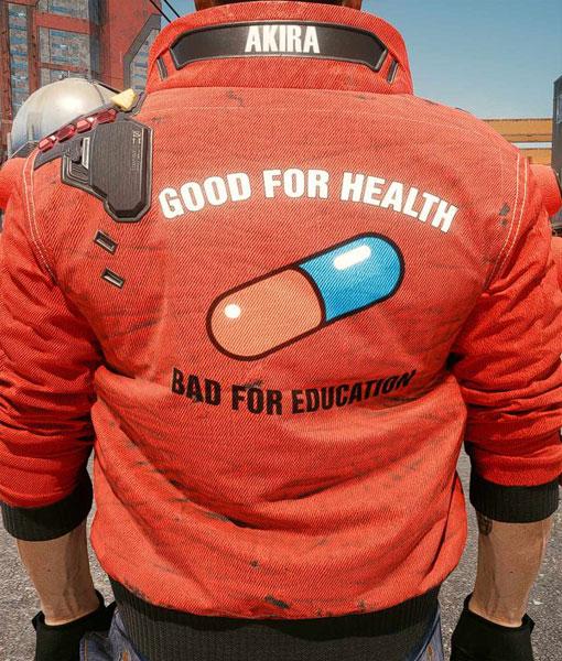 Cyberpunk 2077 Akira Red Bomber Jacket